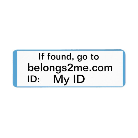 belongs2me.com Labels
