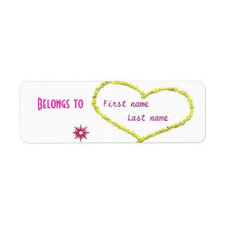 """Belongs to"" label Return Address Label"