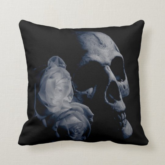 Beloved Skull Gothic Throw Pillow