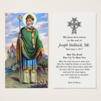 Beloved St Patrick Funeral Sympathy Prayer Card
