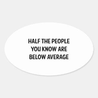 Below Average Oval Sticker