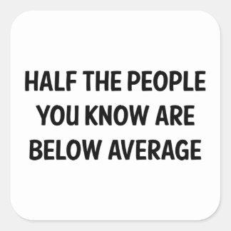 Below Average Square Sticker