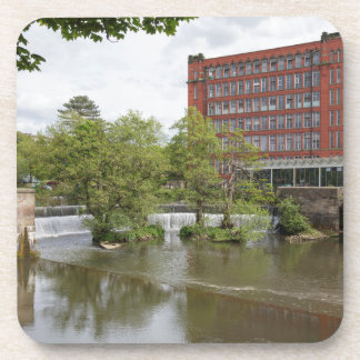 Belper East Mill and weir in Derbyshire Coaster