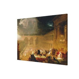 Belshazzar s Feast oil on canvas Gallery Wrap Canvas