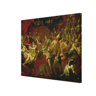 Belshazzar's Feast Stretched Canvas Prints