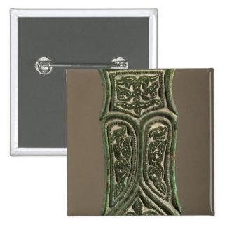 Belt buckle 15 cm square badge