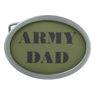 Belt Buckle Army Dad