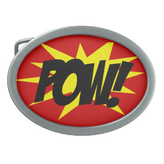 Belt Buckle, Comic Book Style POW! Belt Buckles