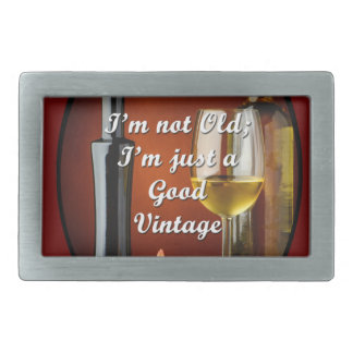 Belt Buckle for Baby Boomer Wine Lovers