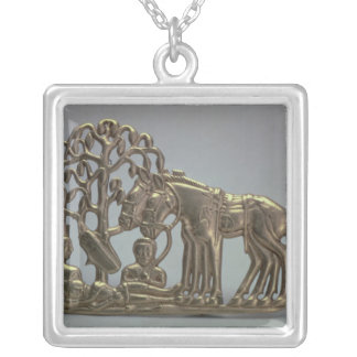 Belt buckle, from Siberian collection of Peter Silver Plated Necklace