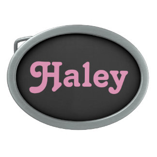 Belt Buckle Haley