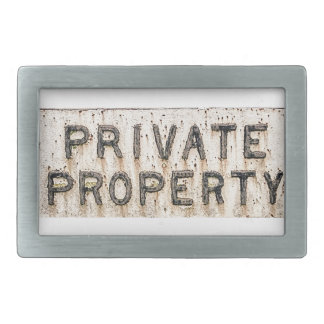belt buckle private property
