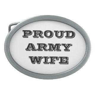 Belt Buckle Proud Army Wife