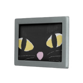 Belt buckle with cat eyes