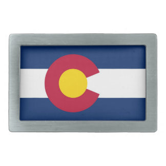 Belt Buckle with Flag of Colorado State