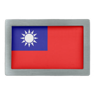 Belt Buckle with Flag of Taiwan
