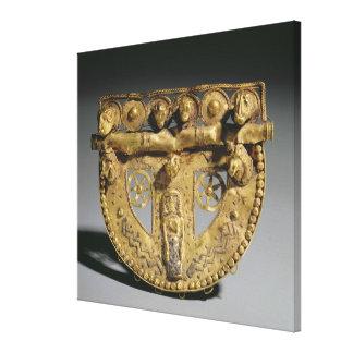 Belt-buckle with granulated decoration, Orientaliz Canvas Prints