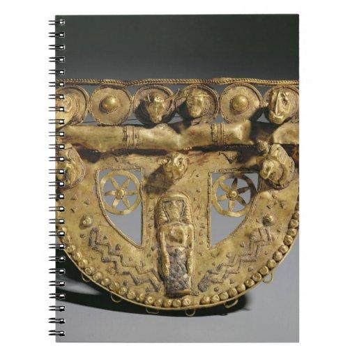 Belt-buckle with granulated decoration, Orientaliz Spiral Notebook