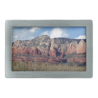 belt buckle with photo of Arizona red rocks