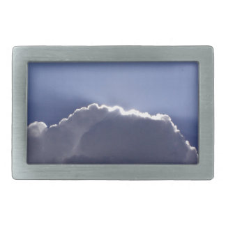 belt buckle with photo of cloud with silver lining