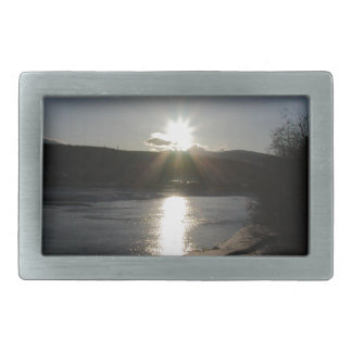 belt buckle with photo of Yukon River