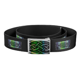 Belt, Celtic knot, black, blue, green Belt