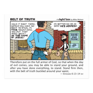 Belt of Truth postcard