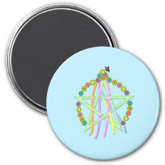 Beltane Pentagram Magnet