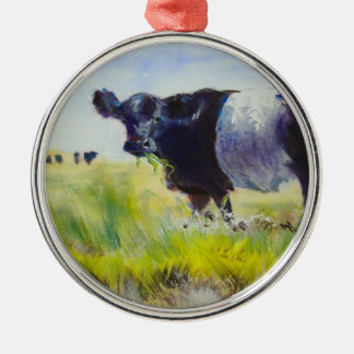 Belted Galloway Animal Christmas Tree Ornament