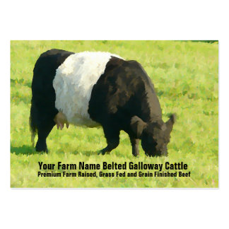 Belted Galloway Cattle Farm or Ranch Supply Business Card