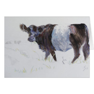 Belted Galloway Painting The White Stripe Greeting Card