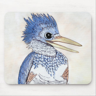 Belted Kingfisher Mouse Pad