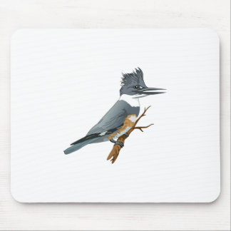 BELTED KINGFISHER MOUSE PADS