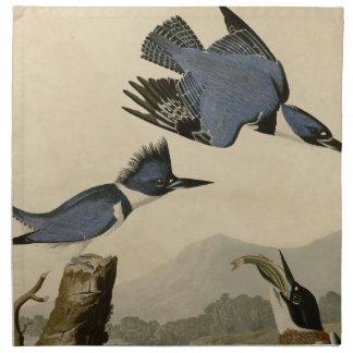 Belted Kingfisher Printed Napkin