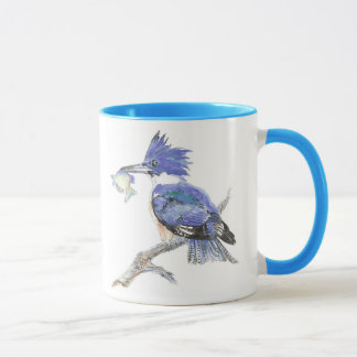 Belted Kingfisher - with fish - Bird Collection Mug