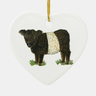 'Beltie' Belted Galloway Christmas Ornament
