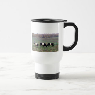 Beltie Cow Herd in Fall Travel Mug