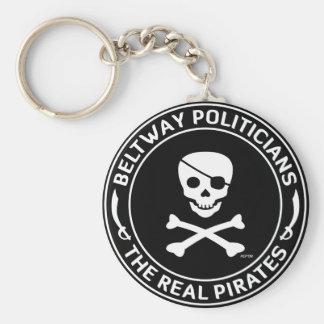 Beltway Pirates Basic Round Button Key Ring