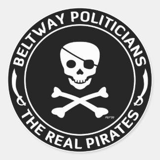 Beltway Pirates Classic Round Sticker