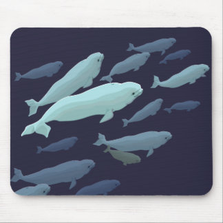 Beluga Whale Art Mousepad Baby Whale Decor