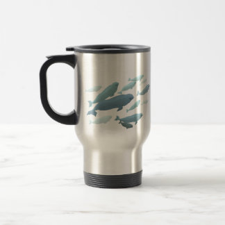Beluga Whale Art Travel Mug Marinelife Coffee Cup