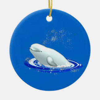 Beluga Whale Christmas Ornament