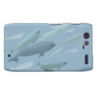Beluga Whale Motorola Droid RAZR Case Whale Case