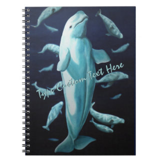 Beluga Whale Notebook Personalized Whale Journal