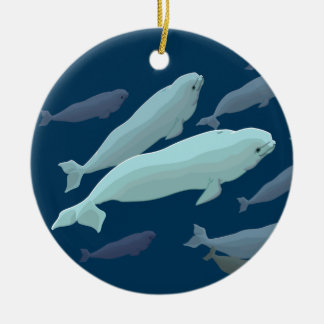 Beluga Whales Ornament Personalized Whale Ornament