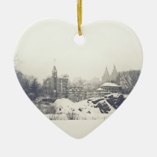Belvedere Castle in the Winter Holiday Christmas Ornament