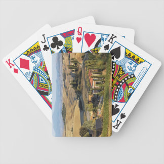 Belvedere House at sunset, San Quirico d'Orcia Bicycle Playing Cards