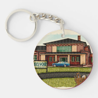 Belvoir Elementary Alumni (Personalized) Double-Sided Round Acrylic Key Ring