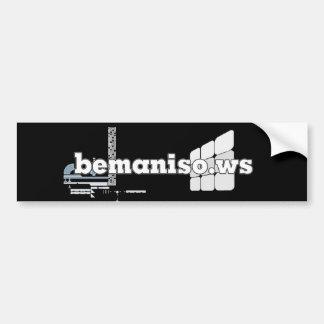 #bemaniso stickit bumper sticker