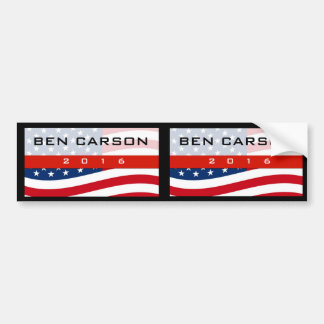 Ben Carson 2016 Political Conservative Bumper Stickers